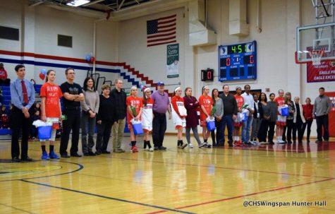 Girls' Basketball Big Win on Senior Night
