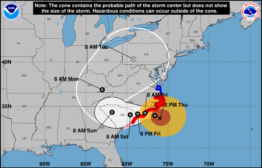 East Coast Prepares for the Wrath of Hurricane Florence