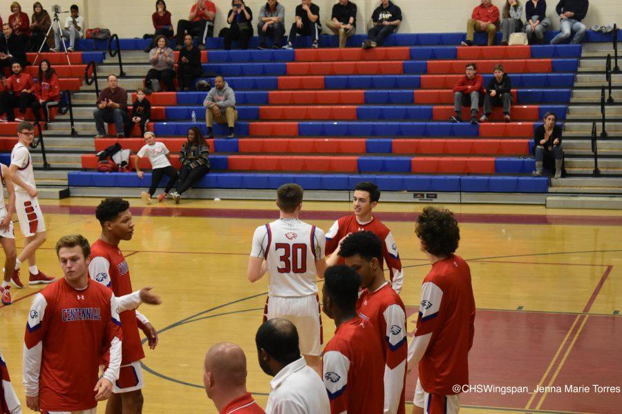 Centennial Boys' Basketball Falls Short Against River Hill
