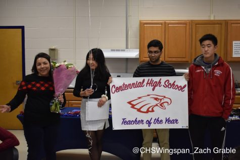Sara Duran is Named Centennial's 2019 Teacher of the Year