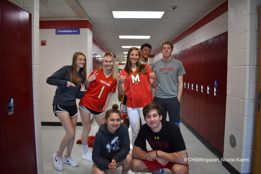 Centennial+Students+Show+Their+Maryland+Pride