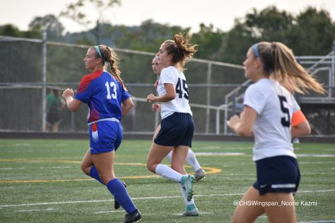 Centennial Varsity Girls' Soccer Secures Victory after Strong All-Around Performance