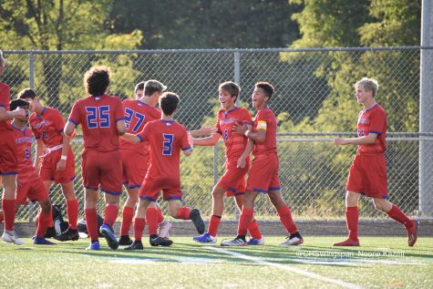 Centennial Boys' Soccer Dominates Hammond in First Home Game
