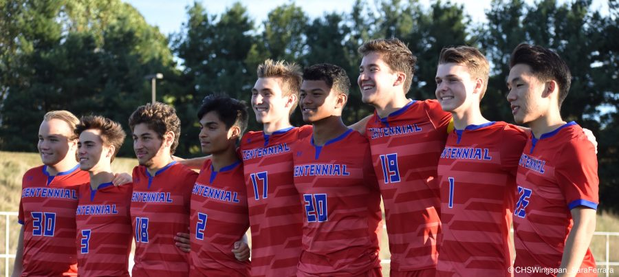 Centennial Boys' Varsity Soccer Dominates on Senior Night