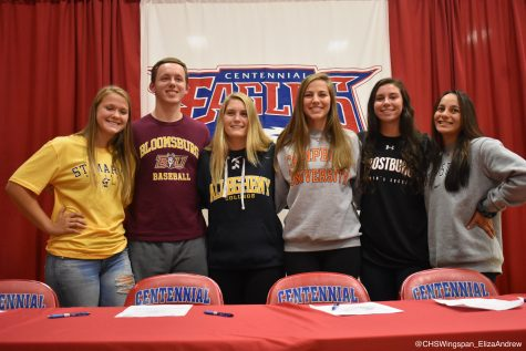 Centennial Students Commit to Colleges