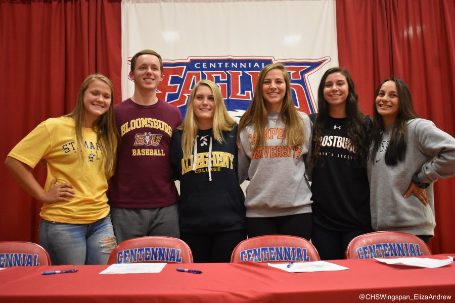 Centennial+Students+Commit+to+Colleges