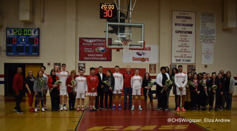 Centennial Boys' Basketball Takes Down Hammond on Senior Night