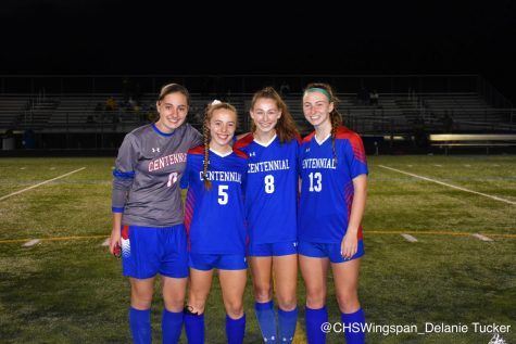Centennial's Girls' Teams Celebrate Senior Night
